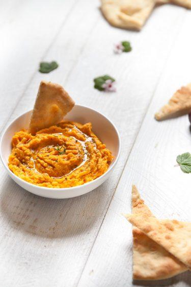 Houmous aux carottes et au cumin, recette facile et rapide