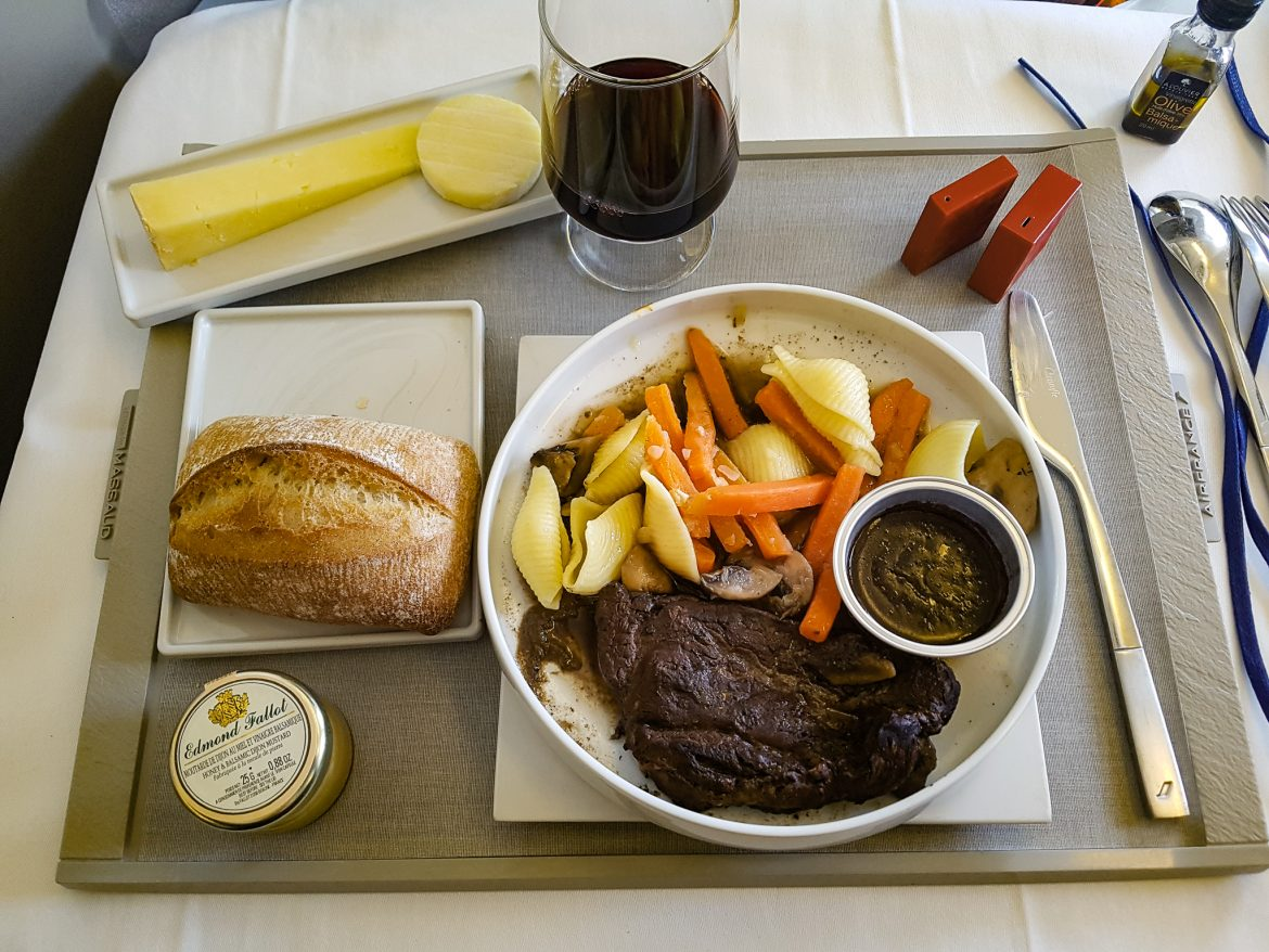 Un des plats de la carte des cabines Best Business Air France