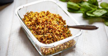 recette taboulé de chou-fleur au curcuma et au quinoa