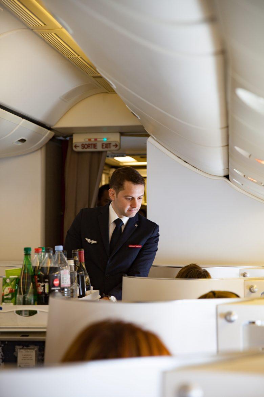 le service de l'apéritif en cabine Best Business Air France