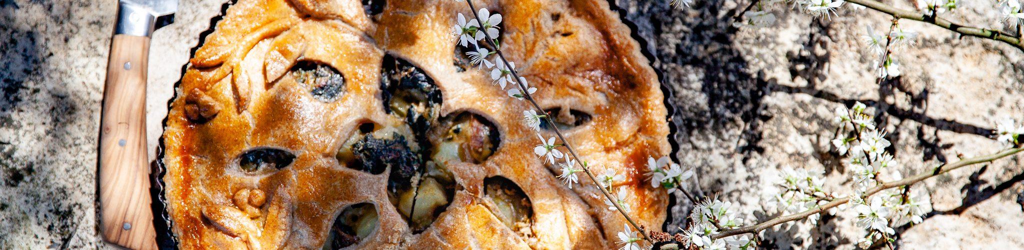 Tourte aux orties et aux pommes de terre recette