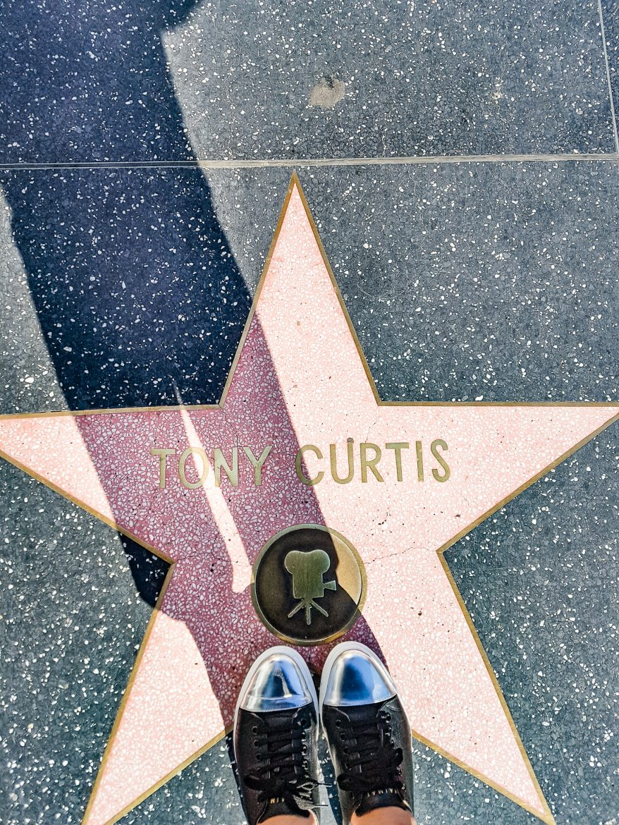 L'éotile de Tony Curtis sur Walk of fame