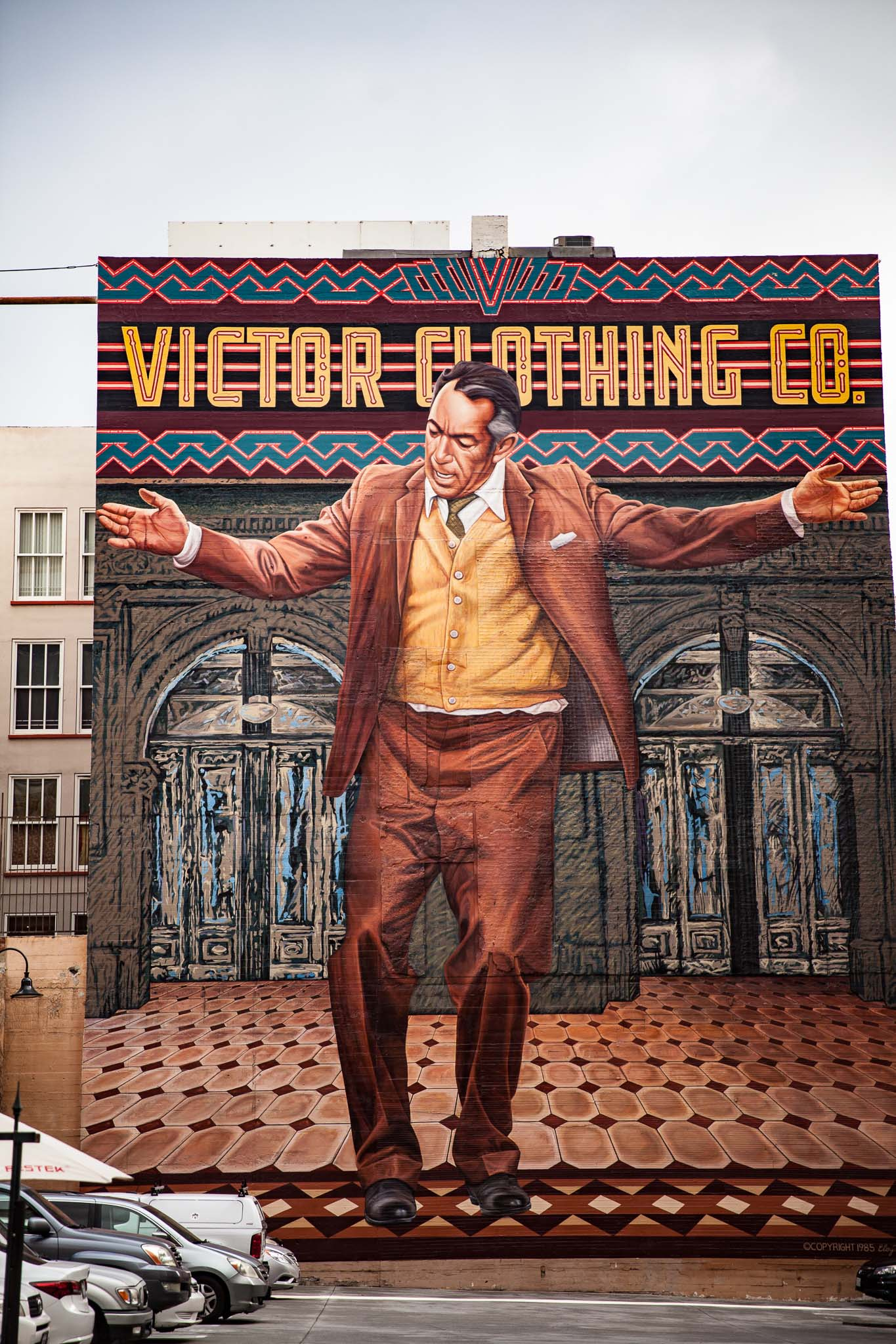 Mural of Anthony Queen w 3rd st LA. Los Angeles autrement visiter la ville à pied