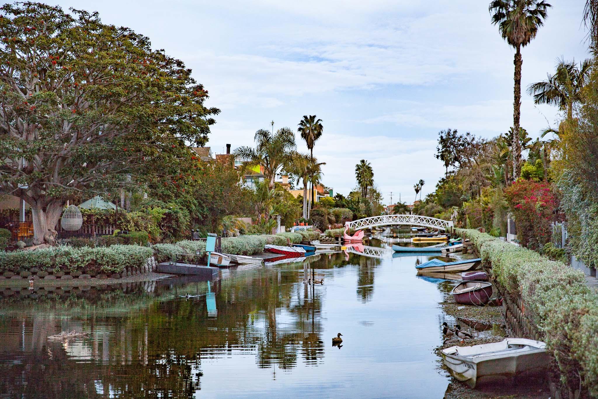 Venice Canals les canaux et les ponts Los Angeles Autrement