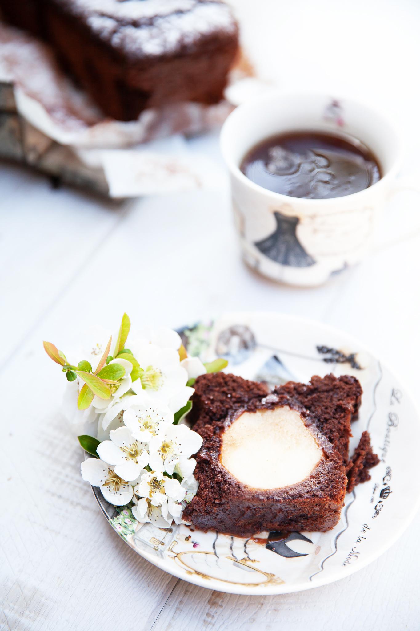 Cake chocolat poires_recette
