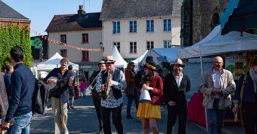 les musiciens au festival des aoc de cambremer