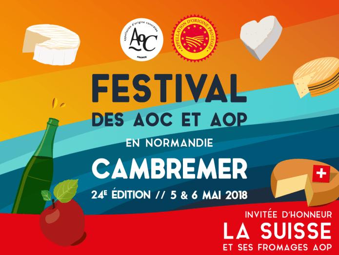 Affiche du Festival des aoc de Cambremer 2018