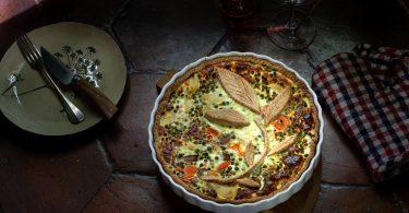quiche printanière de légumes au brocciu, une recette de tarte facile et rapide