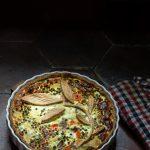 tarte salée à la printanière de légumes et au brocciu