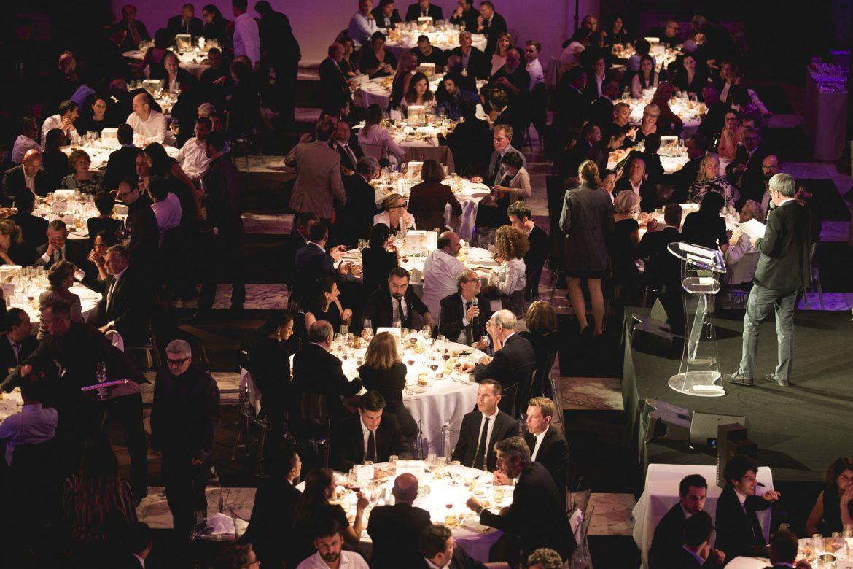 Les convives au dîner des Plumes d'Or du Vin et de la Gastronomie 2018