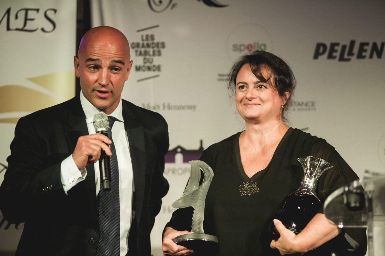 Anne Reverdy auteur de l'année 2018 les Plumes d'Or du Vin et de la Gastronomie