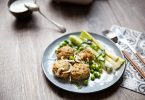 Boulettes d'agneau aux herbes et petits pois recette
