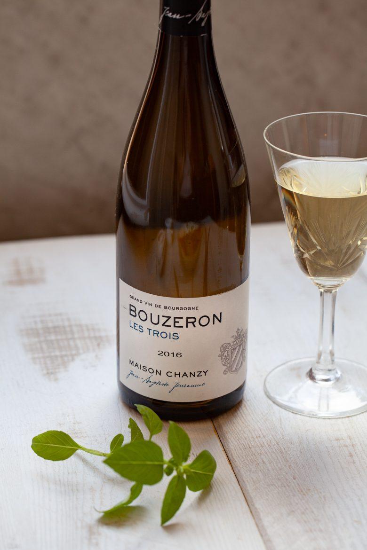 Vin blanc Bouzeron de la maison Chanzy, parcelle Les Trois, 2016