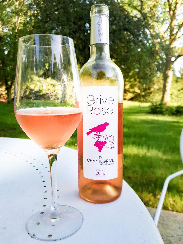 Grive rosé by Chantegrive vin rosé de Bordeaux