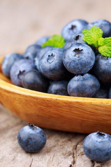 bol de bleuets ou myrtille cultivée