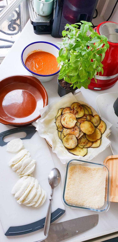 ingrédients des aubergines alla parmigiana