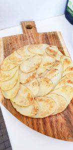 rosace dorée de pommes de terre