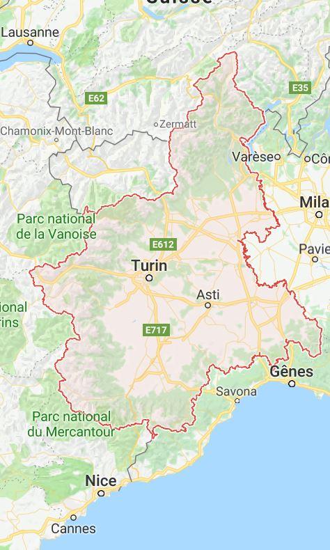 Cartographie du Piémont