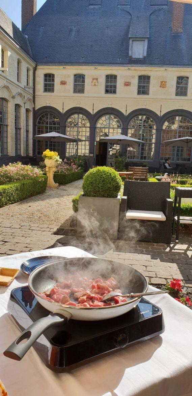 Démo de cuisine à l'Hermitage Gantois pour Top Pro un évènement de la marque Saint-Georges