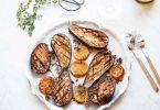 aubergines confites au citron au four recette