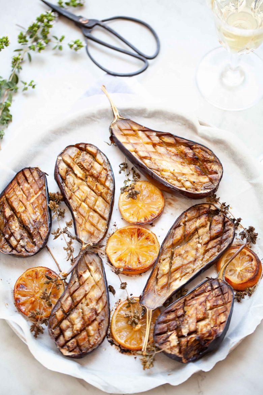 recette d'aubergines au sel de citron confites au four