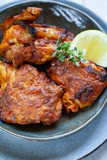 recette de poulet tandoori au four et masala épices tandoori