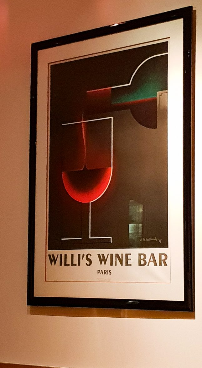 Affiche au restaurant Willi's Wine Bar