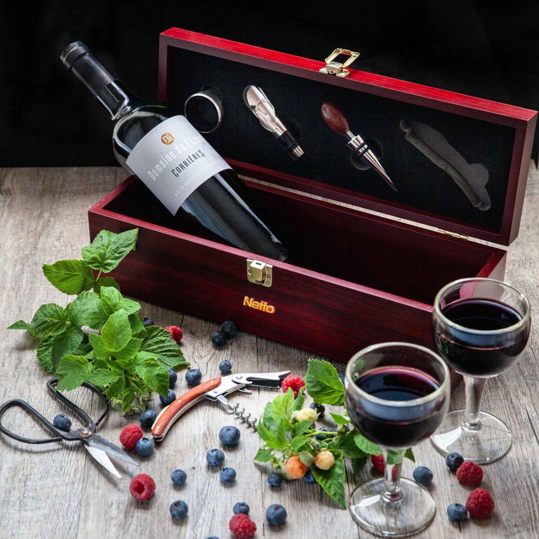 Coffret de vin offert par Netto et Corbières domaien de l'Izard