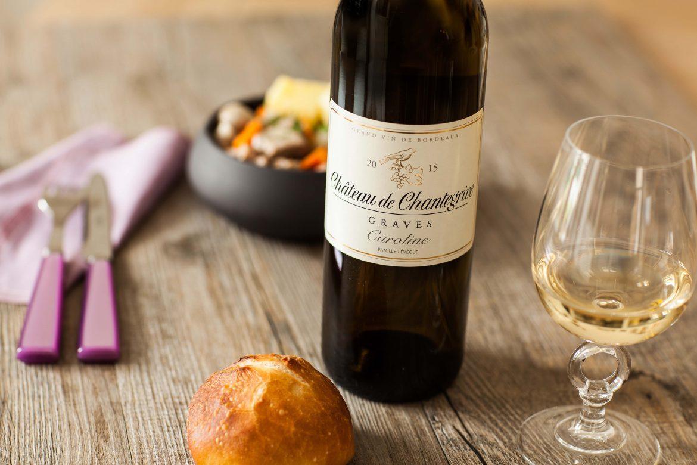 Bouteille de cuvée Caroline du Château Chantegrive, vins Graves Bordeaux