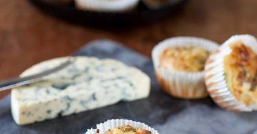 la recette des muffins à la fourme d'Ambert