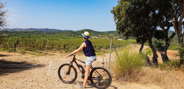 Faire de l'oenotourisme en vtt électrique dans les vignes du domaine de Figuière