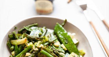 recette facile de légumes verts sautés au vinaigre balsamique à l'italienne