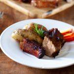 la recette des travers de porc aux pêches