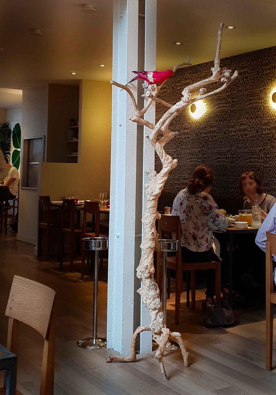 La décoration du restaurant Niébé, paris 6