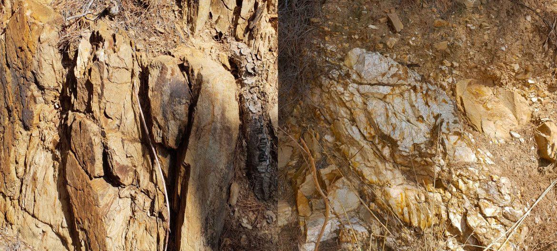 Schiste et quartz blanc sont les composants du sous-sol du domaine de Figuière