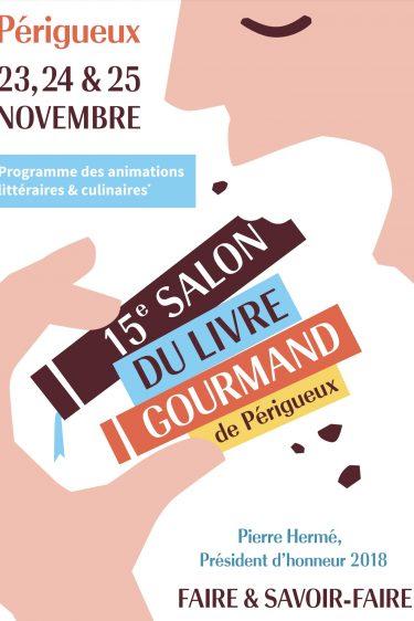 L'affiche du 15 ème salon du livre gourmand de Perigueux