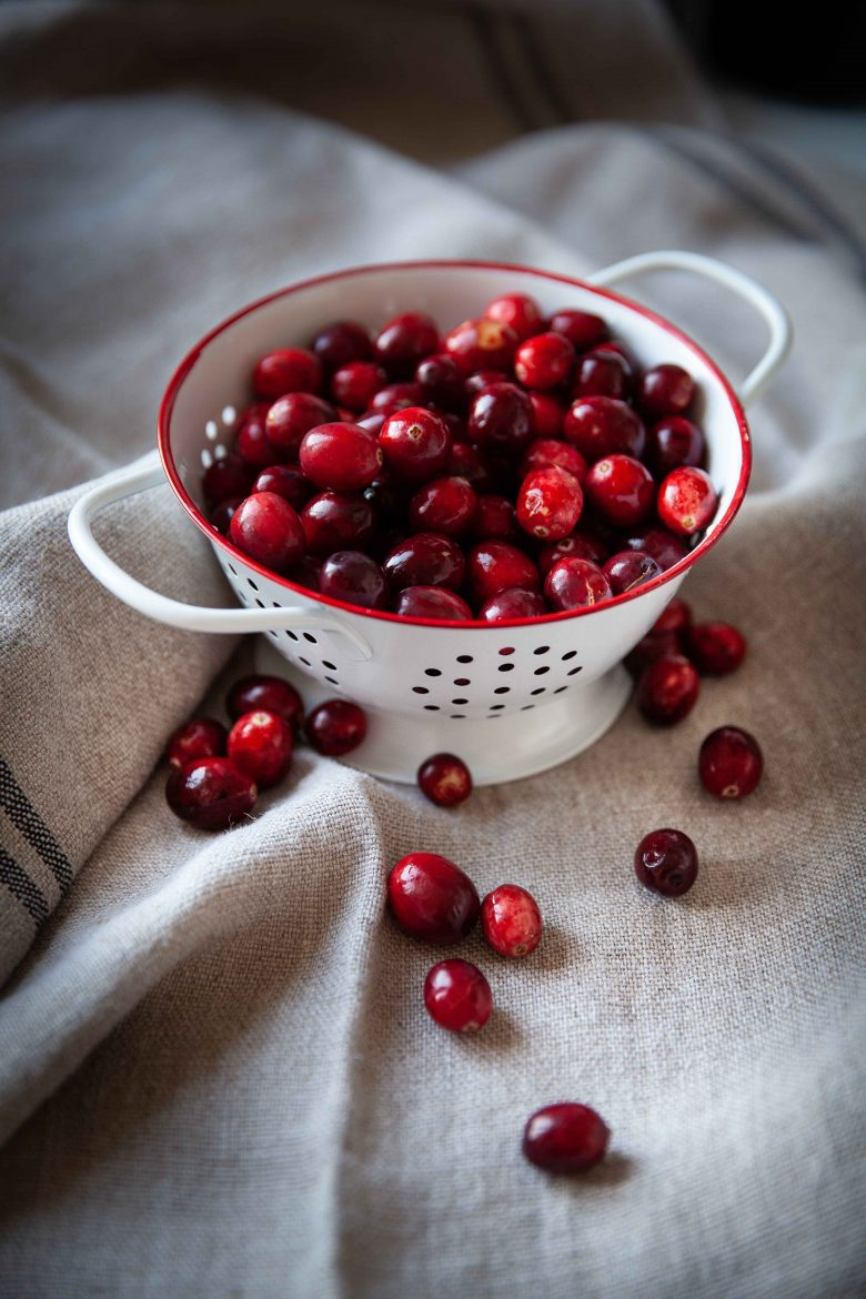 Canneberges ou cranberries fraîches