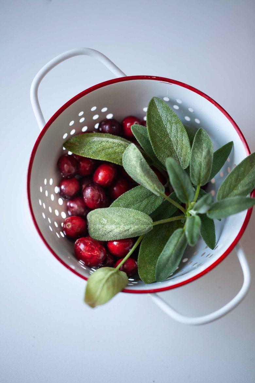 cranberry ou canneberge et sauge vont très bien ensemble