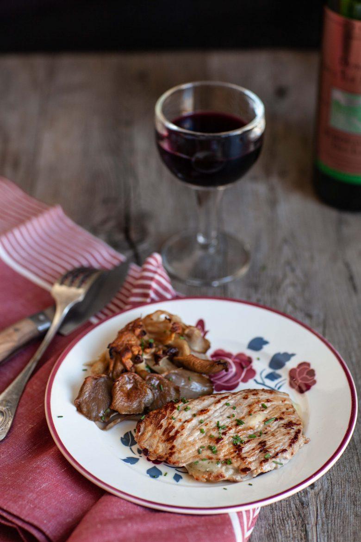 La recette de l'escalope de veau et tomme fondante à l'ail des ours de la fromagerie Pochat