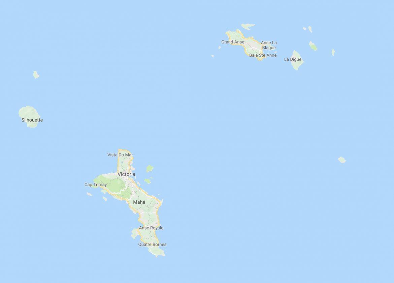 la carte des seychelles