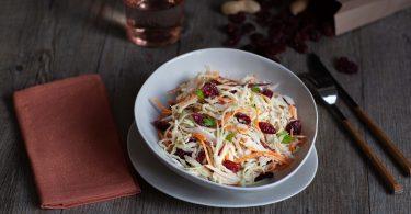 Ma recette de salade coleslaw végétarien aux cranberries Seeberger