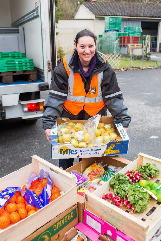 La collecte quotidienne de la Banque Alimentaire tout au long de l'année pour les produits frais