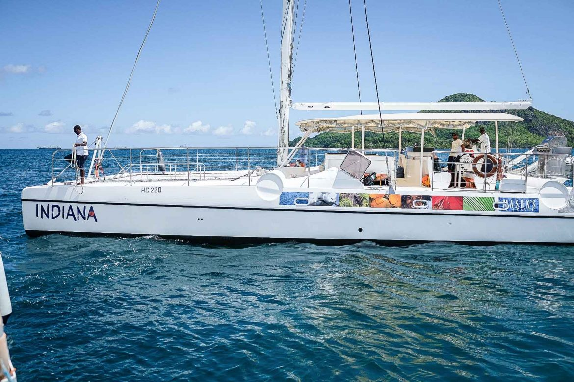 catamaran d'excursion de Mason's travel aux Seychelles