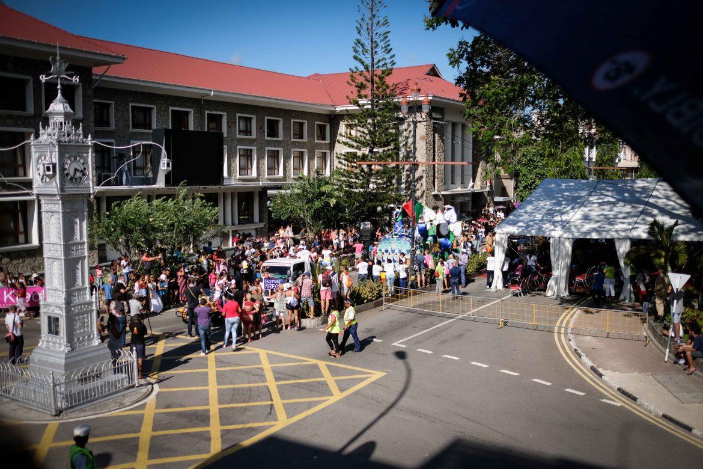 La Parade du Festival Kreol à la Clock Tower de Victoria, Mahé, Seychelles