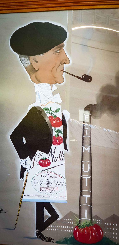 Dessin portrait de Ugo Mutti en tube dé à coudre