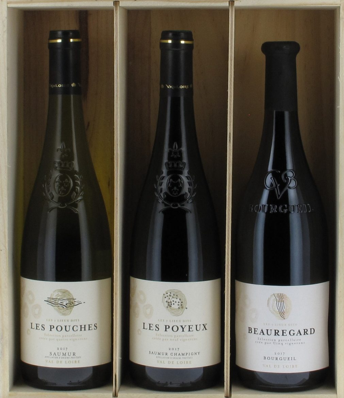 coffret de 3 vins issus de 3 Lieux-Dits de Saumur et Bourgueil, coopérative Alliance Loire