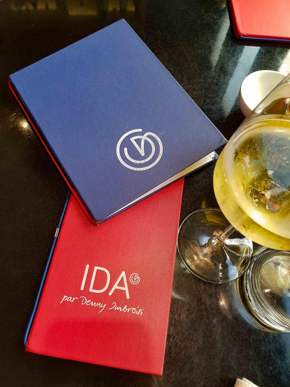 Les cartes du restaurant IDA de Denny Imbroisi