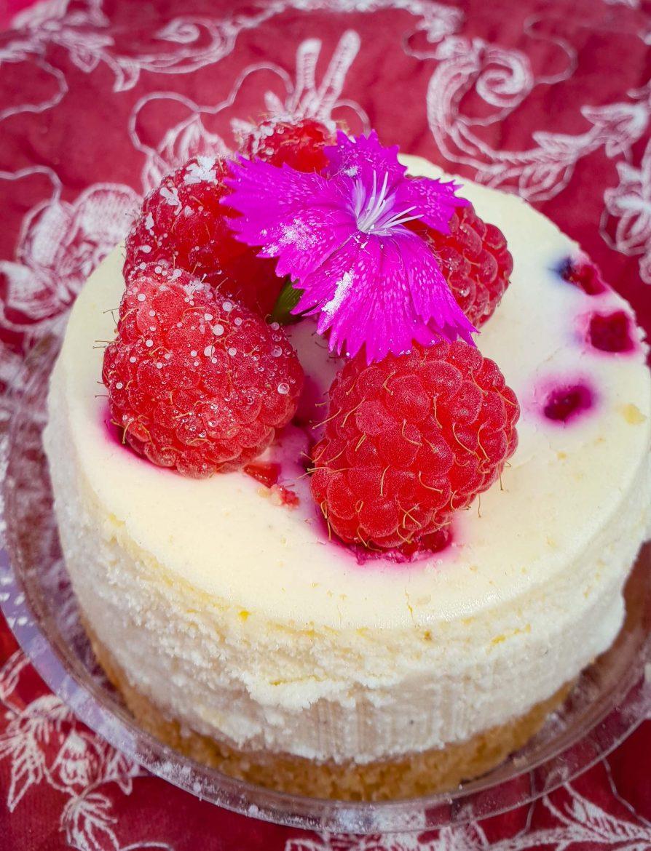 Cheesacake à la framboise en portion individuelle