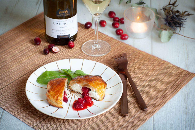 La recette du croustillant de chèvre aux cranberries fraîches