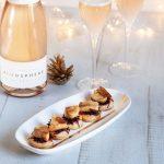 Recette de feuilletés de foie gras à la betterave et vin rosé pétillant du domaine de Fiiguière, l'Atmosphère